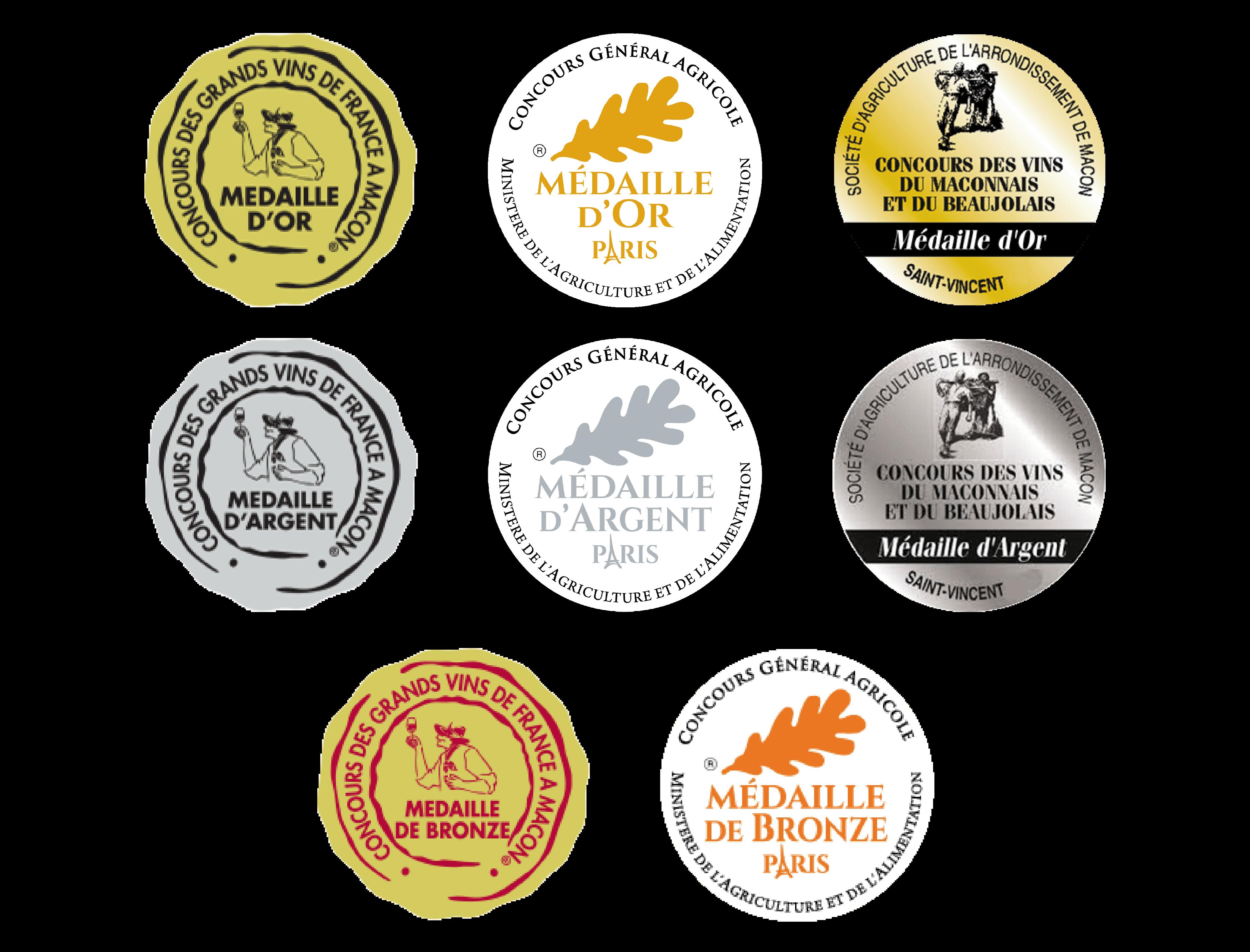 Médailles concours Crépillionne